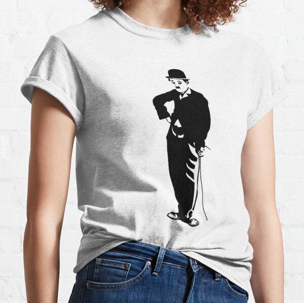Charlie Chaplin Famous Pose, Poster Artwork Design Posing, Tshirts, Prints, Bags, Men, Women, Kids T-shirt classique