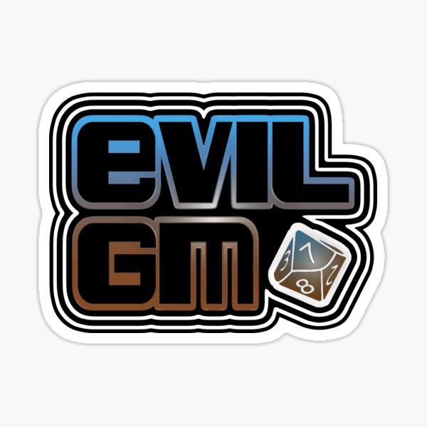 EvilGM Logo Dice Clear1 Sticker