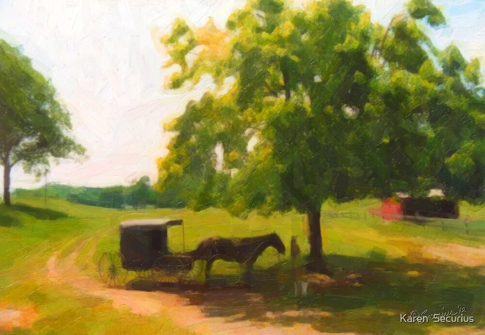 Horse & Cart oil01 by Karen  Securius