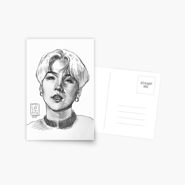 Yoongi Drawing  Postcard