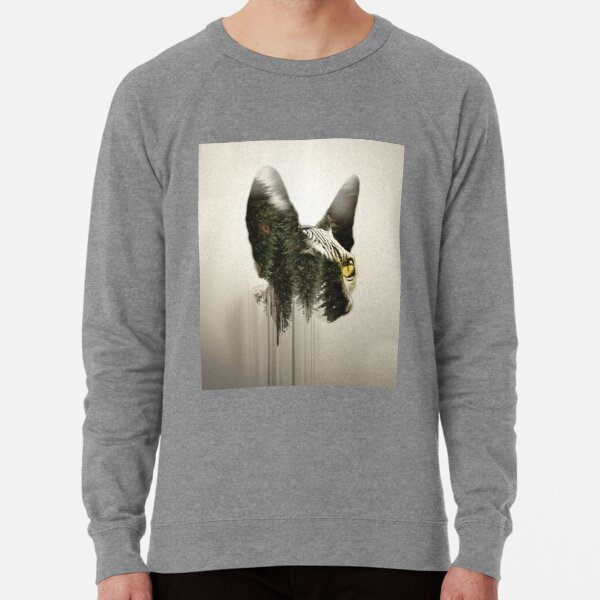 sphyns double exposure Lightweight Sweatshirt