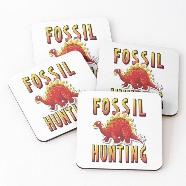 Fossil Hunting Stegosaurus Dinosaur Coasters (Set of 4)