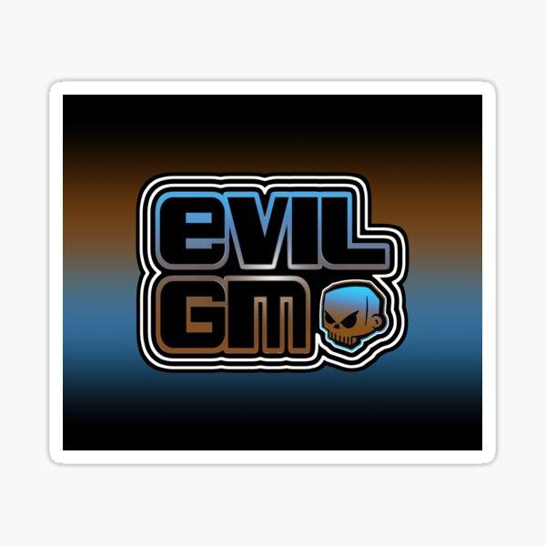 EvilGM Logo Skull BBB2 Sticker