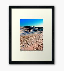Smooth hills in winter wonderland Framed Print