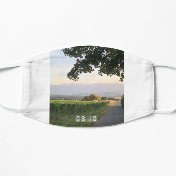 Vineyards in the morning  Flat Mask