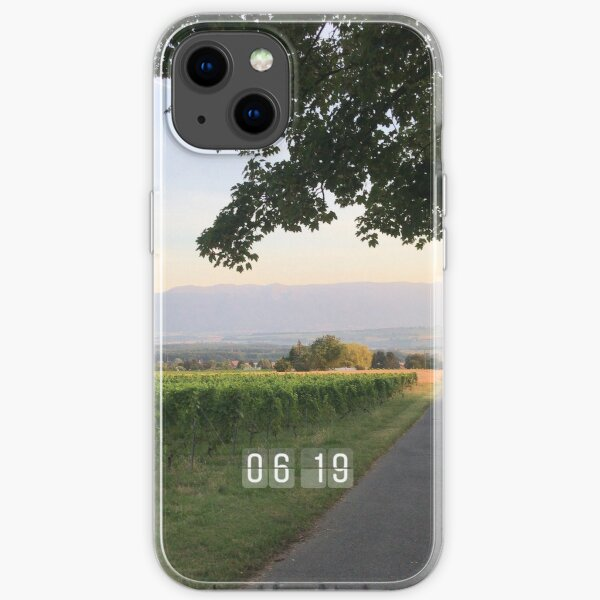 Vineyards in the morning  iPhone Soft Case
