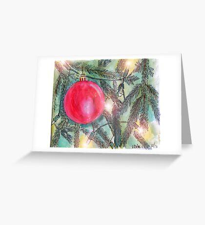 Christmas Tree Glow Greeting Card