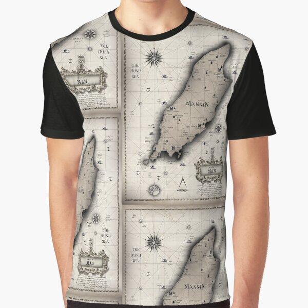 Vintage Isle of Man Map Graphic T-Shirt