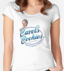 Famous Carol's Cookies Logo Women's Fitted Scoop T-Shirt