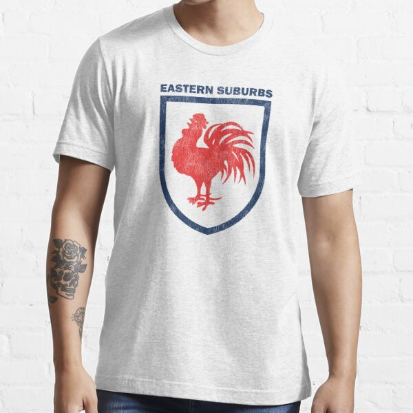 Sydney Roosters Red Cockerel - Distressed Badge Logo 1970s-1994 Essential T-Shirt