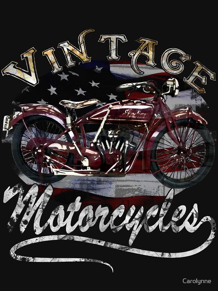 Vintage Motorcycle Tee by Carolynne