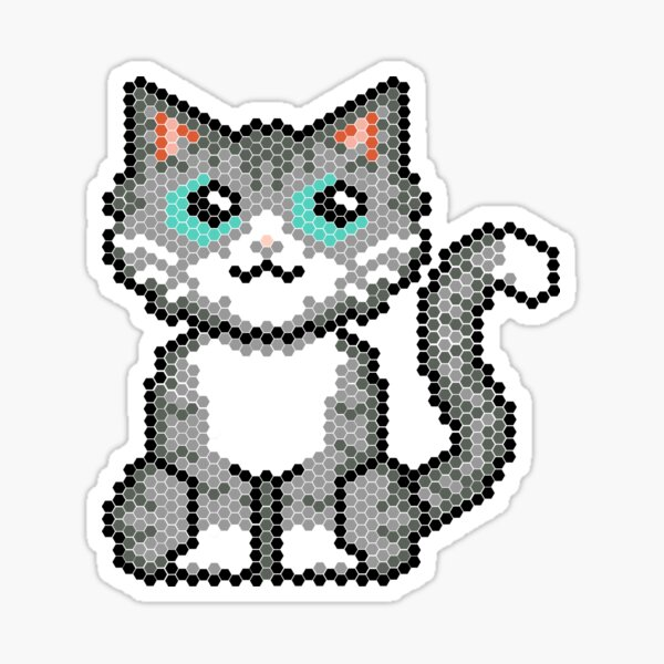 Cat pixel Sticker