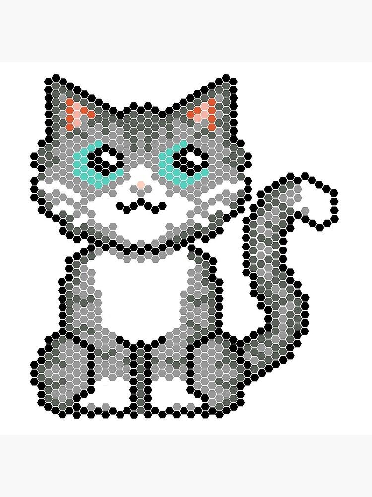 Cat pixel by robotllama