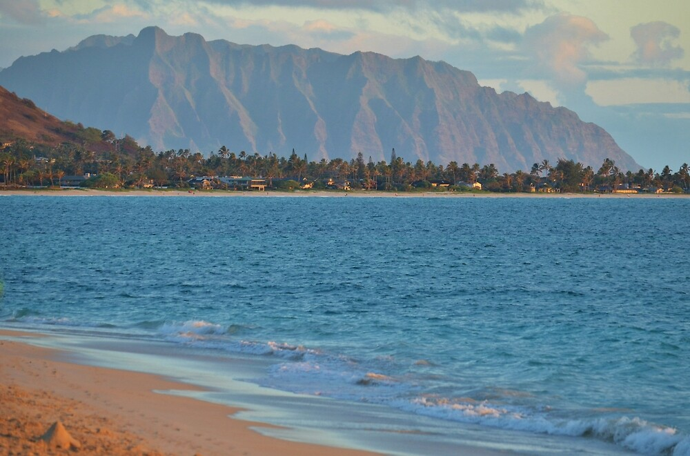 Pali and Kailua Beach Sunrise by Ran Richards