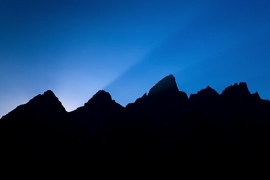 Last Rays Over the Tetons by A.M. Ruttle