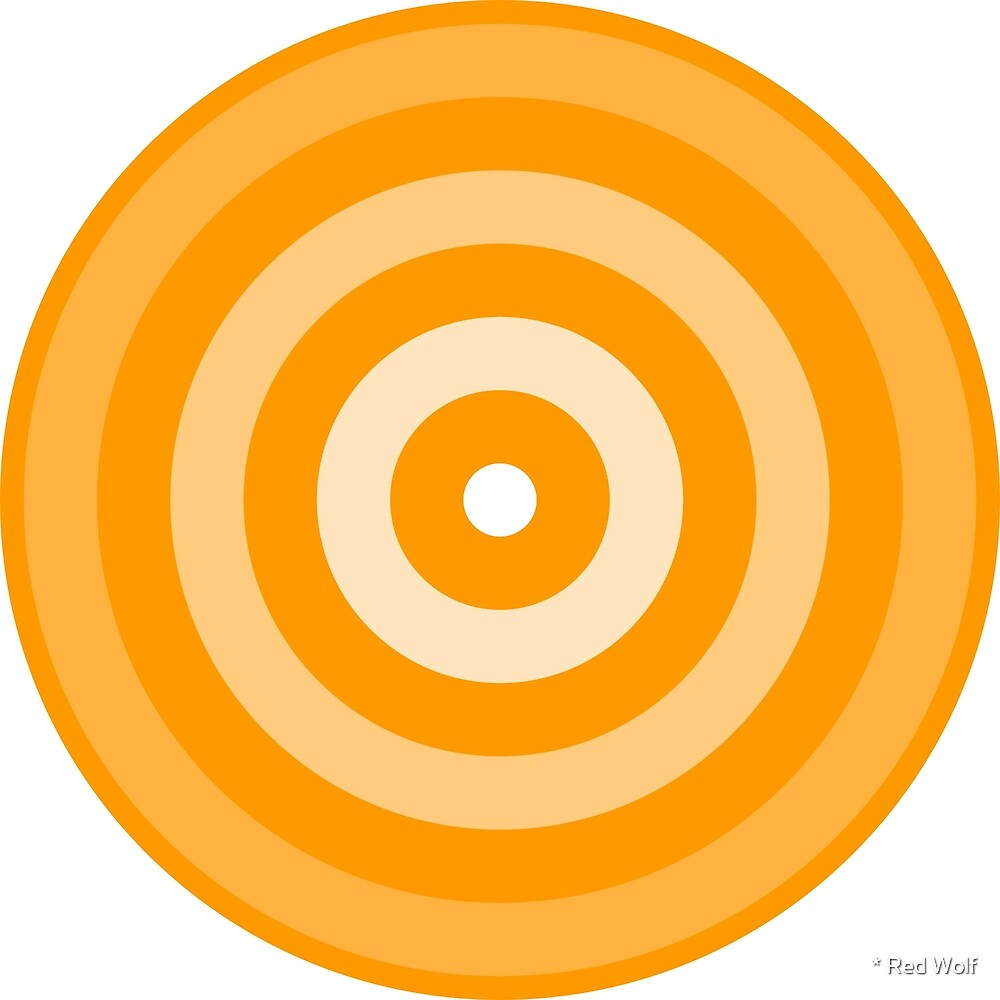 Geometric Pattern: Rondel: White Gradient Orange by * Red Wolf