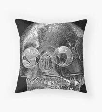 Rock Crystal Skull Throw Pillow