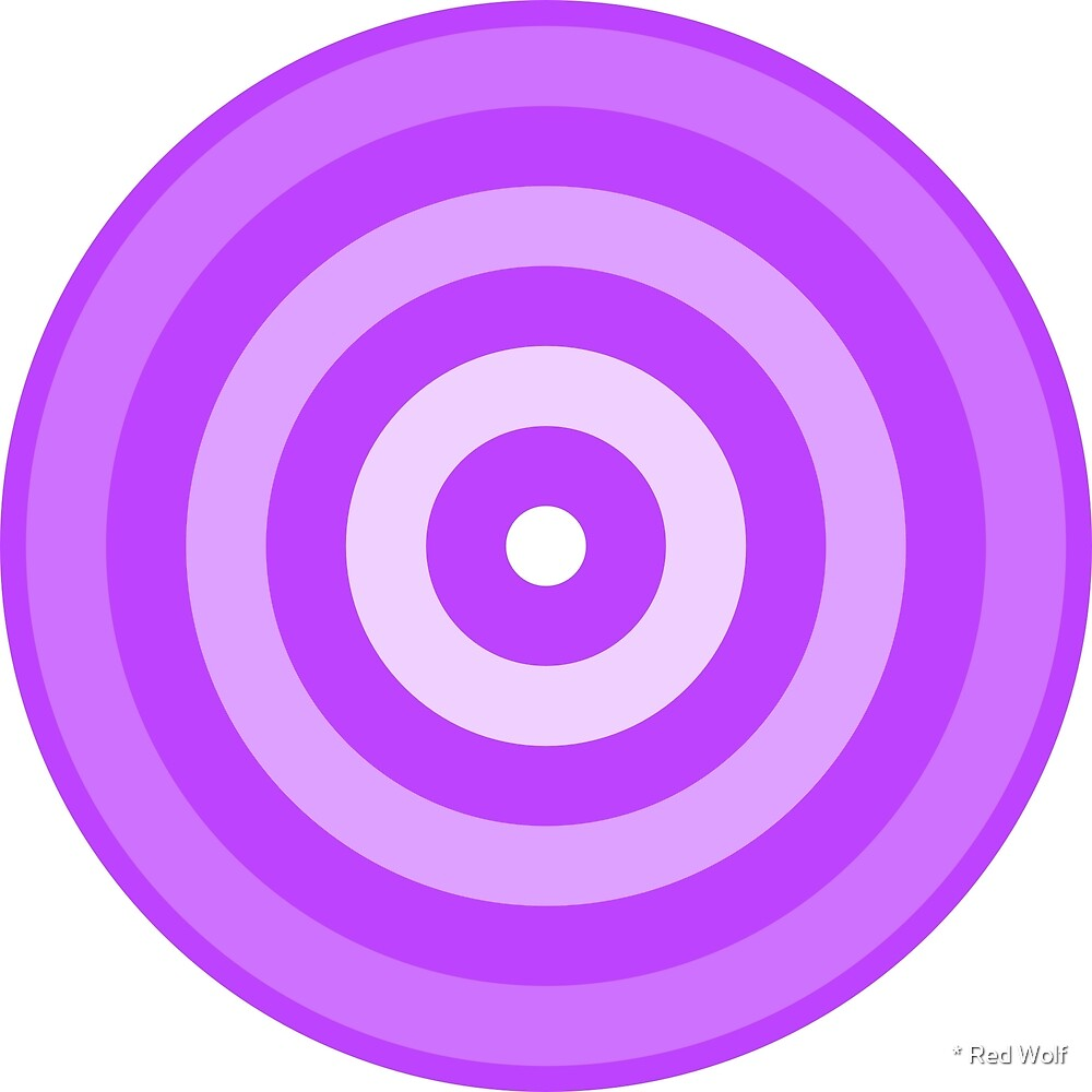 Geometric Pattern: Rondel: White Gradient Purple by * Red Wolf