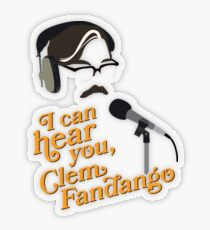 "Toast of London - ""I can hear you, Clem Fandango"" Transparent Sticker"