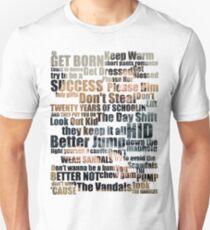 Camiseta unisex Subterranean Homesick Blues (Texto de la foto)