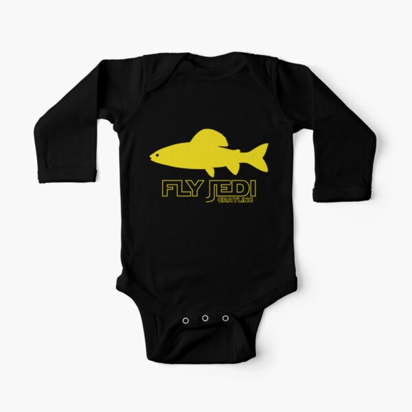 Arctic Grayling Funny Fisherman Angler Hobby Fishing Sport Infant Baby Romper