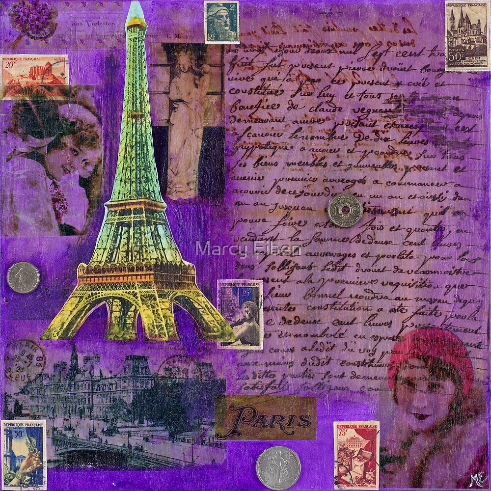 France Painting by Marcy Eiben