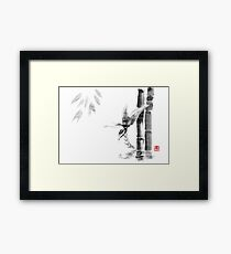 floating bamboo Framed Print