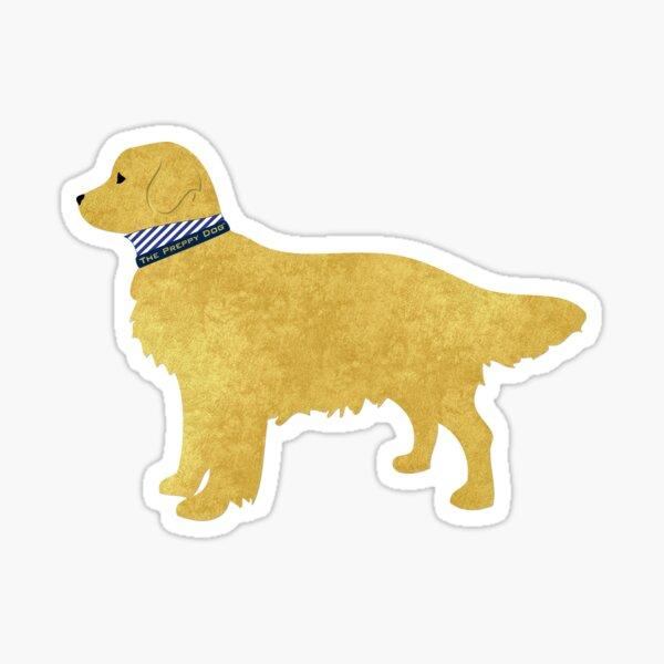 Golden Retriever Preppy Silhouette Sticker