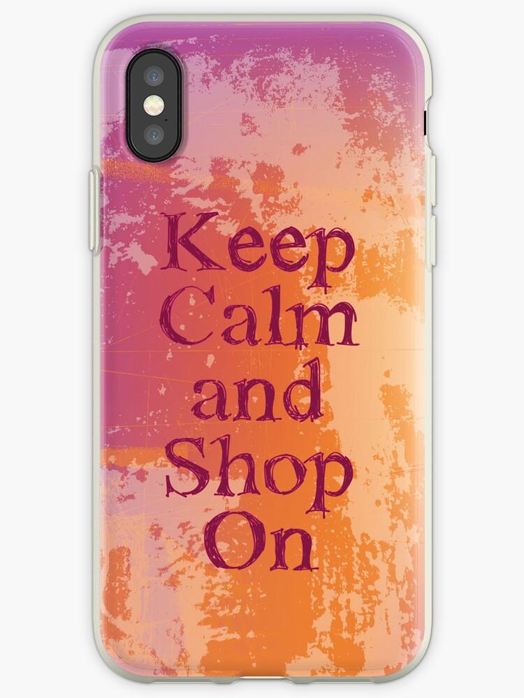 keep calm and shop on by sabrina card