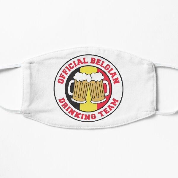 Equipe Belge Officielle de Belgique avec Drapeau de la Belgique et Bières Masque sans plis