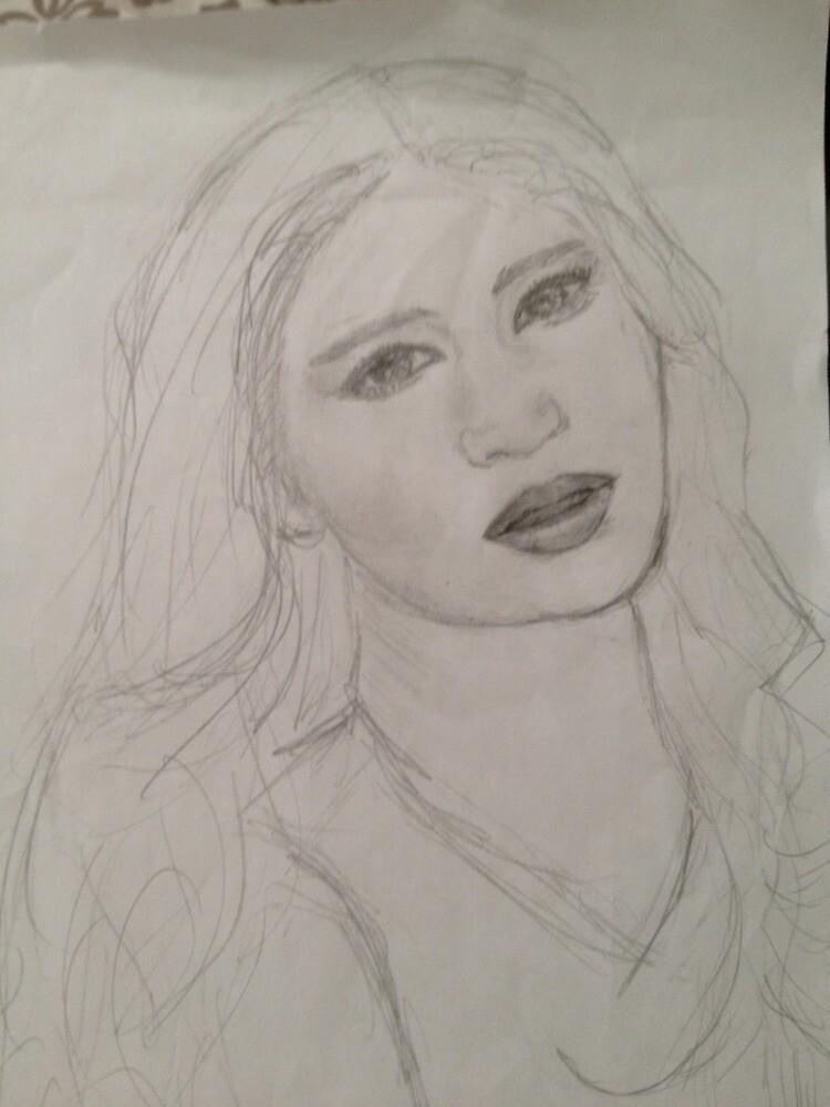 Jennifer Lawrence Sketch by chatnoir4713