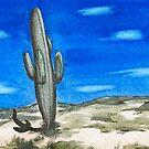 Cactus in the Desert by miriielizabeth