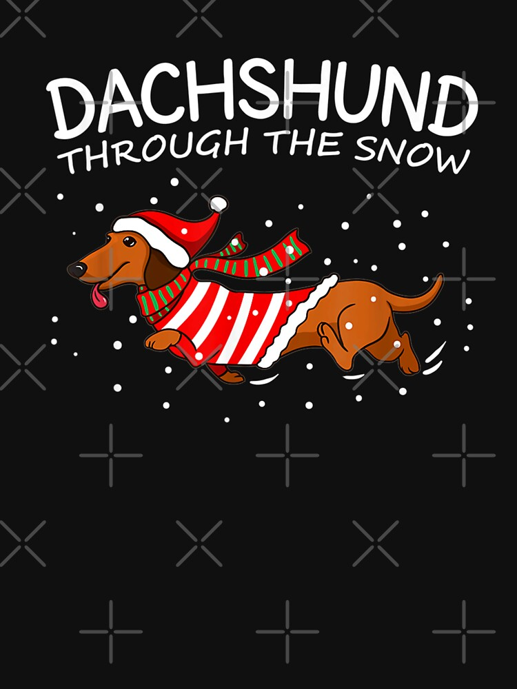 Dachshund Through The Snow Funny Dog Christmas by IlirianaVeseli