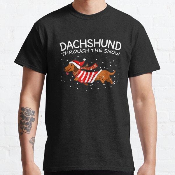 Dachshund Through The Snow Funny Dog Christmas Classic T-Shirt
