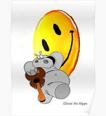 Chicot the Hippo and Smilie Poster