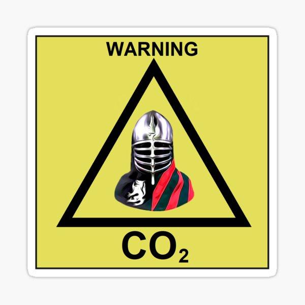WARNING CO2 Sticker