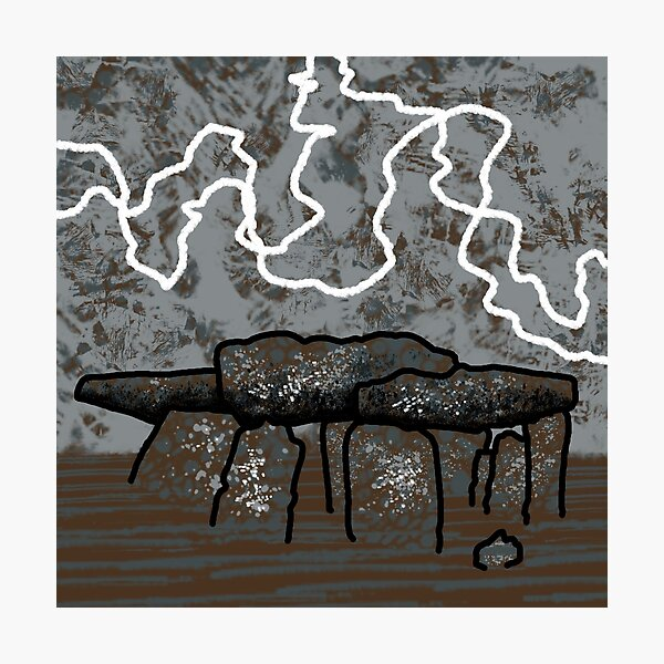 Dolmen in Grey and Brown no. 1 Photographic Print