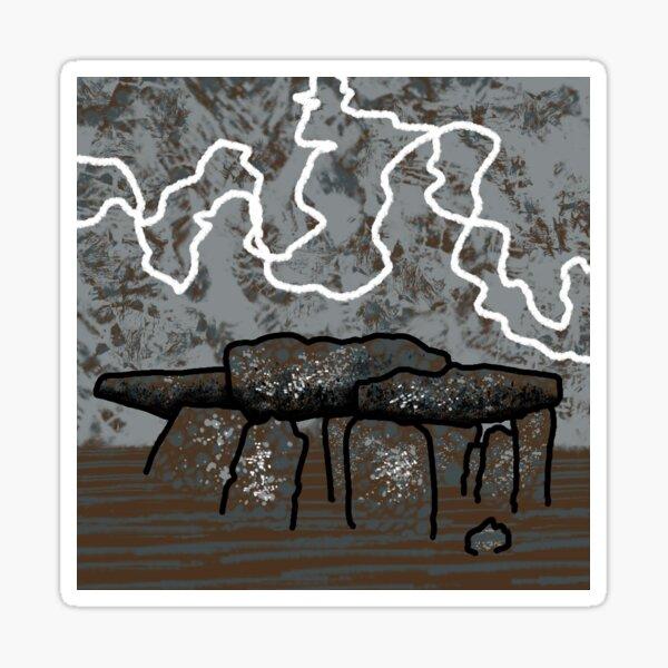 Dolmen in Grey and Brown no. 1 Sticker
