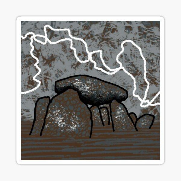 Dolmen in Grey and Brown no. 2 Sticker