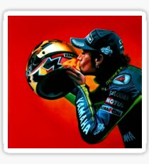 Valentino Rossi portrait painting Sticker