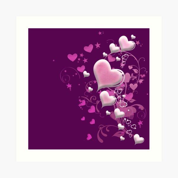 Herzen aus Zuckerguss Kunstdruck