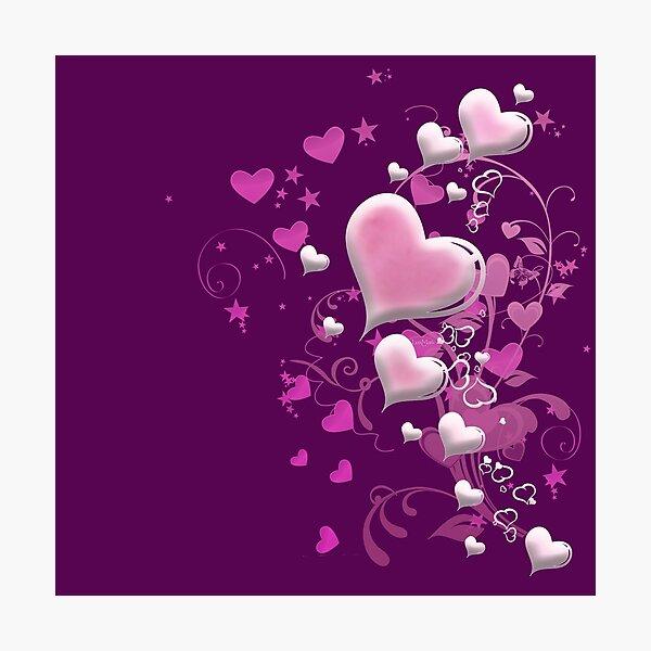 Herzen aus Zuckerguss Fotodruck