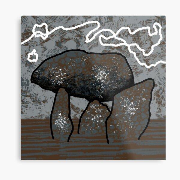 Dolmen in Grey and Brown no. 3 Metal Print