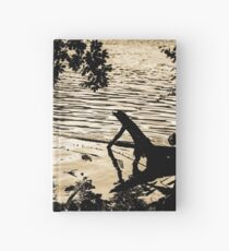 Ducks at Sunset - Golden ducks  Hardcover Journal