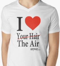 Dr. Horrible Freeze Ray love your hair Men's V-Neck T-Shirt