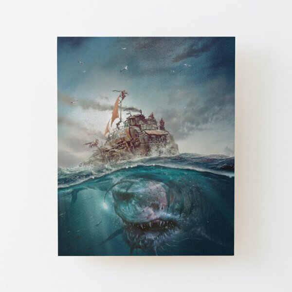 Dead Blue Sea Wood Mounted Print