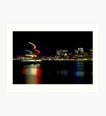 Halifax Harbour and Ferry at Night Art Print