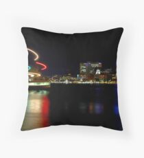 Halifax Harbour and Ferry at Night Throw Pillow
