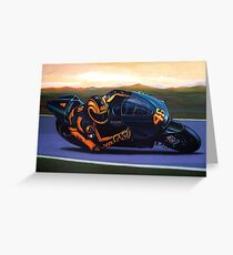 Valentino Rossi on Ducati painting Greeting Card