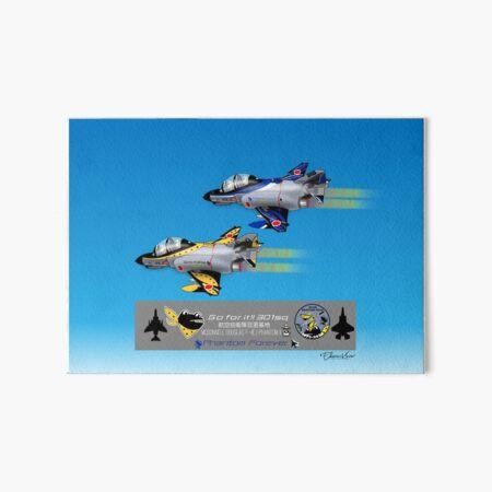 Commemorative pair of JASDF F-4EJ Phantom IIs from 301 SQN Art Board Print